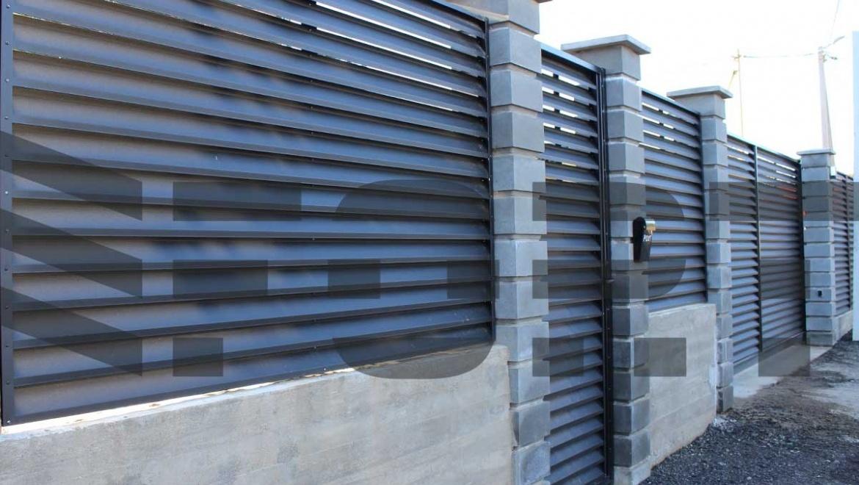 забор жалюзи металлический fort comfort