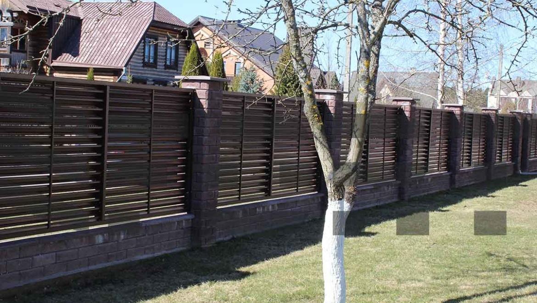 забор жалюзи металлический красный fort lux для дачи