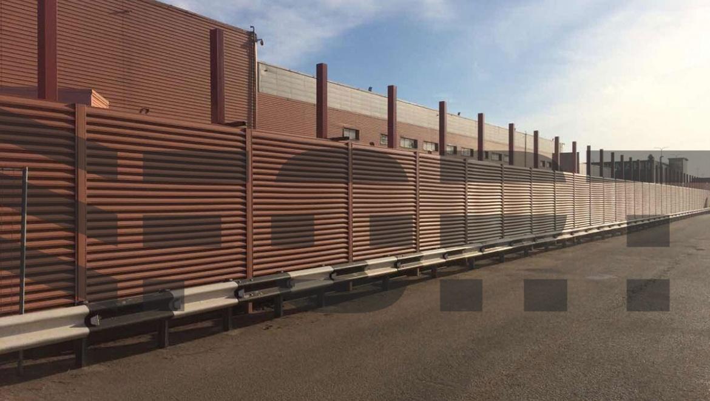 забор жалюзи металлический красный fort lux