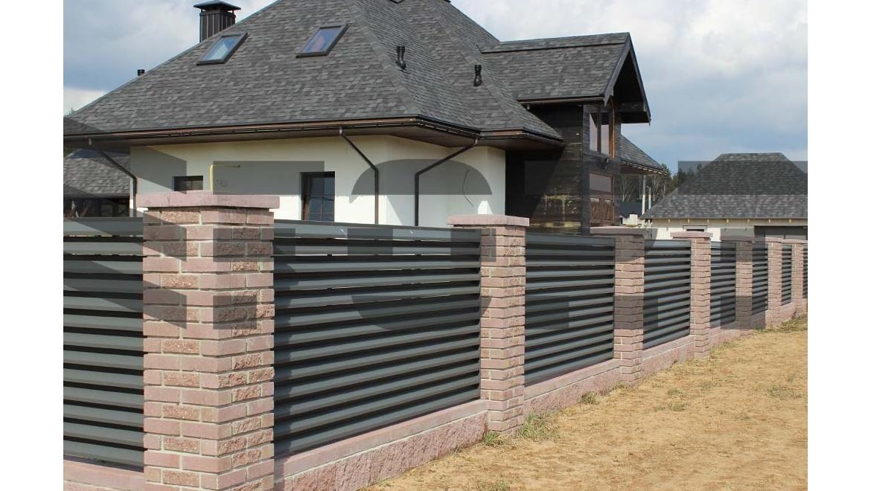 забор жалюзи fort lux  для дачи
