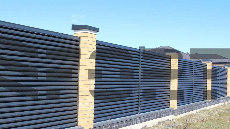 забор жалюзи металлический  fort lux