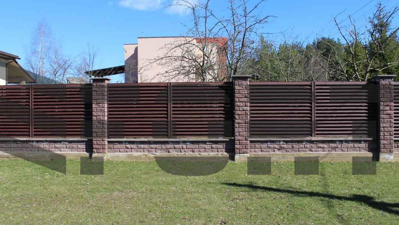 забор жалюзи  красный fort lux для участка