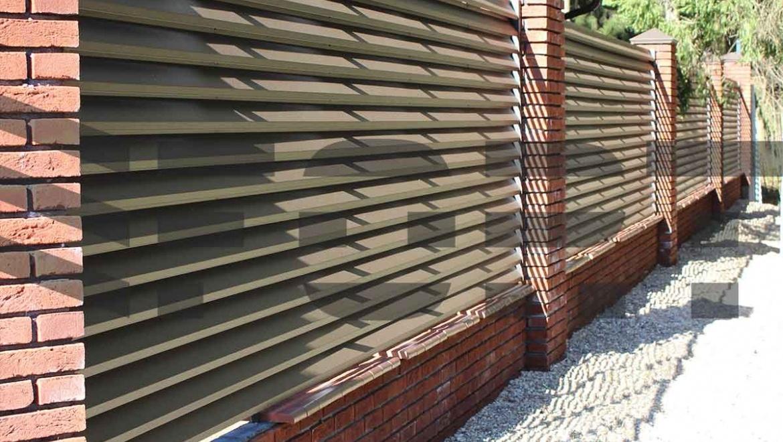 забор жалюзи для частного дома fort lux