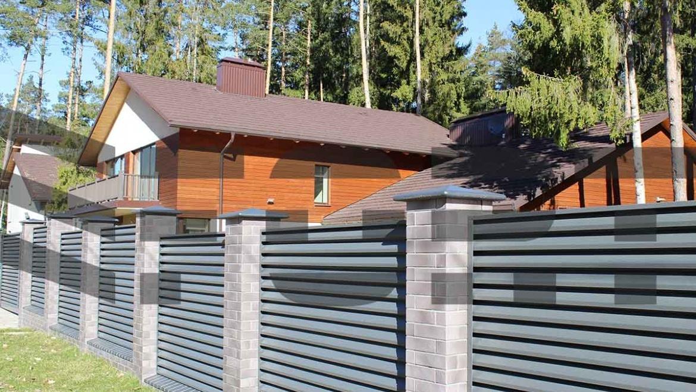 забор жалюзи для коттеджа  fort lux