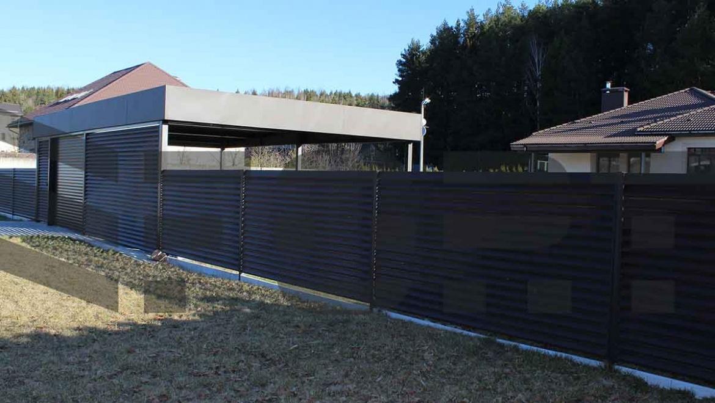 Современный забор для загородного дома