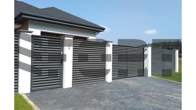 забор жалюзи для частного дома fort comfort