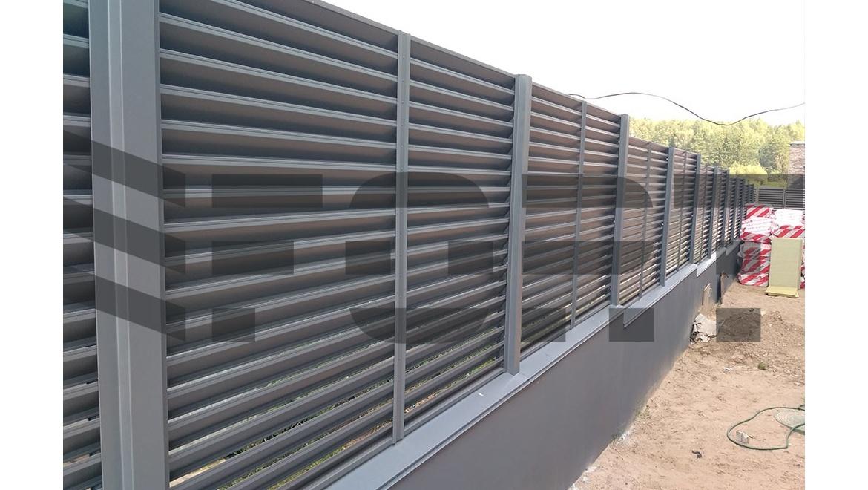 забор жалюзи металлический fort comfort для дачи