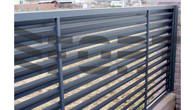 Забор жалюзи из металла своими руками